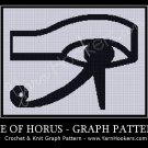 Egyptian Eye of Horus - Afghan Crochet Graph Pattern Chart