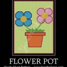 Flower Pot - Afghan Crochet Graph Pattern Chart