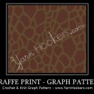 Giraffe Animal Print - Afghan Crochet Graph Pattern Chart