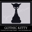 Gothic Kitty - Afghan Crochet Graph Pattern Chart
