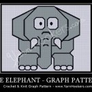 Grey Elephant - Afghan Crochet Graph Pattern Chart