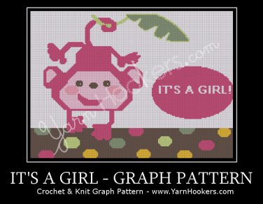 It's a Girl - Afghan Crochet Graph Pattern Chart
