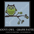 Groovy Owl - Afghan Crochet Graph Pattern Chart