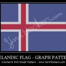 Iceland National Flag - Afghan Crochet Graph Pattern Chart