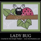 Lady Bug - Afghan Crochet Graph Pattern Chart