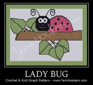 Lady Bug - Afghan Crochet Graph Pattern Chart
