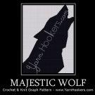 Majestic Wolf - Afghan Crochet Graph Pattern Chart