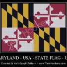 Maryland - State Flag - USA - Afghan Crochet Graph Pattern Chart