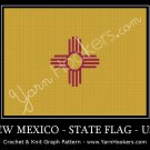 New Mexico - State Flag - USA - Afghan Crochet Graph Pattern Chart