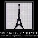 Paris Eiffel Tower - Afghan Crochet Graph Pattern Chart