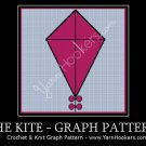 Pink Kite with Bows - Afghan Crochet Graph Pattern Chart