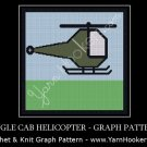 Single Cab Helicopter - Afghan Crochet Graph Pattern Chart