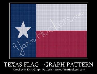 Texas State Flag - Afghan Crochet Graph Pattern Chart
