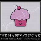 The Happy Cupcake - Afghan Crochet Graph Pattern Chart