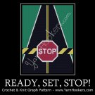 Ready, Set, STOP! - Afghan Crochet Graph Pattern Chart