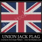 Union Jack - British Flag - UK National Flag -Afghan Crochet Graph Pattern Chart