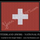 Switzerland (Swiss) National Flag - Afghan Crochet Graph Pattern Chart