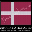 Denmark National Flag - Afghan Crochet Graph Pattern Chart