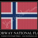 Norway National Flag - Afghan Crochet Graph Pattern Chart