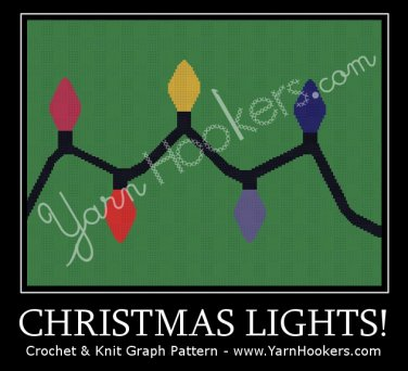 Christmas Lights - Afghan Crochet Graph Pattern Chart