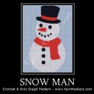 Snow Man - Afghan Crochet Graph Pattern Chart