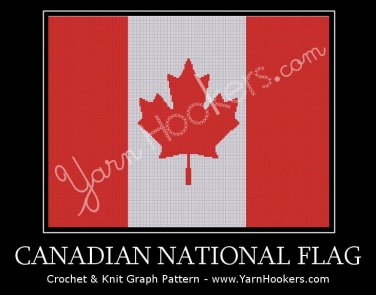Canadian National Flag - Afghan Crochet Graph Pattern Chart