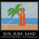 Sun, Surf, Sand - Afghan Crochet Graph Pattern Chart