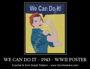 We Can Do It - 1943 - World War II - Propaganda Poster - Women's Rights Afghan