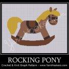 Rocking Pony - Afghan Crochet Graph Pattern Chart