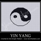 Yin Yang - Afghan Crochet Graph Pattern Chart