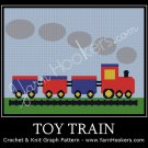 Toy Train - Afghan Crochet Graph Pattern Chart