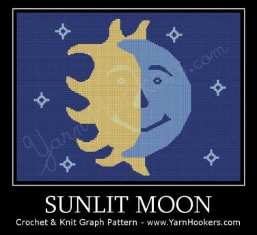 Sunlit Moon - Afghan Crochet Graph Pattern Chart