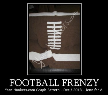 Football Frenzy - Afghan Crochet Graph Pattern Chart