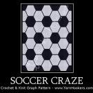 Soccer Craze - Afghan Crochet Graph Pattern Chart