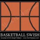 Basketball Swish - Afghan Crochet Graph Pattern Chart