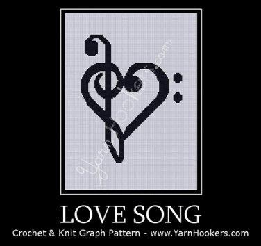 Love Song - Afghan Crochet Graph Pattern Chart