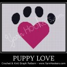 Puppy Love - Afghan Crochet Graph Pattern Chart