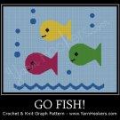 Go Fish! - Afghan Crochet Graph Pattern Chart