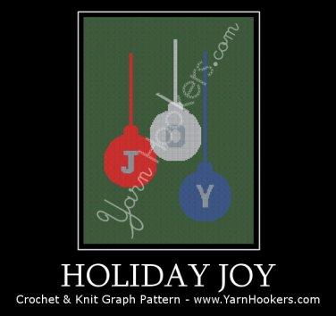 Holiday JOY - Afghan Crochet Graph Pattern Chart