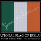 National Flag of Ireland - Afghan Crochet Graph Pattern Chart