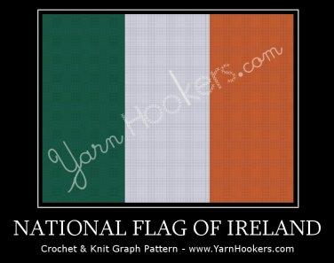 National Flag of Ireland - Afghan Crochet Graph Pattern Chart