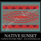 Native Sunrise - Afghan Crochet Graph Pattern Chart