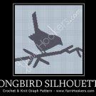 Songbird Silhouette - Afghan Crochet Graph Pattern Chart