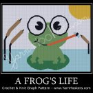 A Frog's Life - Afghan Crochet Graph Pattern Chart