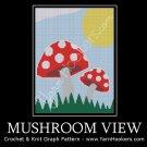 Mushroom View - Afghan Crochet Graph Pattern Chart