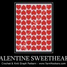Valentine Sweetheart  - Afghan Crochet Graph Pattern Chart