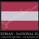 Austrian National Flag - Afghan Crochet Graph Pattern Chart