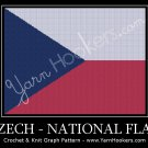 Czech National Flag - Afghan Crochet Graph Pattern Chart