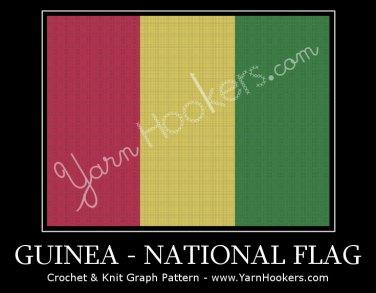 Guinean National Flag - Afghan Crochet Graph Pattern Chart