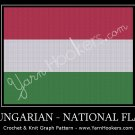 Hungarian National Flag - Afghan Crochet Graph Pattern Chart